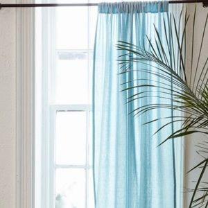 Blue Grid Curtain